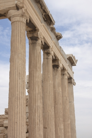 Ruins of famous Acropolis in the heart of Athens