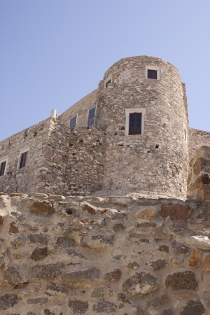 Old venetian castle on a beautiful Naxos island