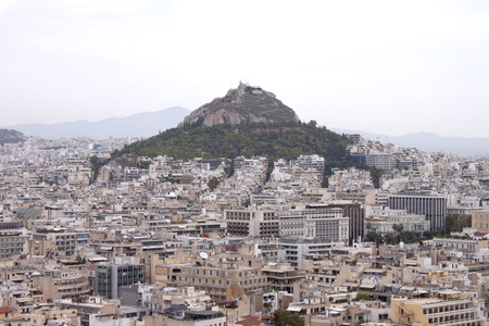 View on Athens from Acropolis hill, Greece Stock Photo