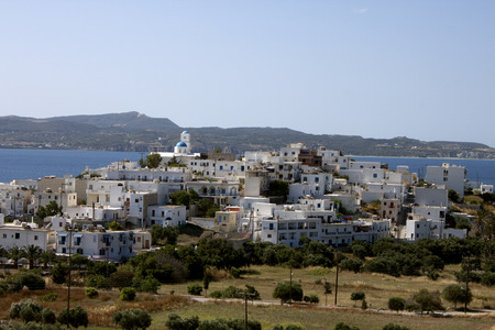 View on Adamas town in Milos, Greece