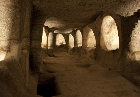 catacomb: Antient christian catacombs, Milos island, Greece