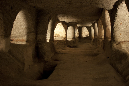Antient christian catacombs, Milos island, Greece