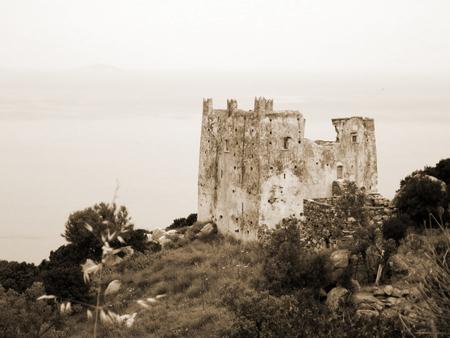 Old venetian castle in Naxos island, Greece