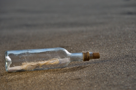 Message in bottle Stock Photo