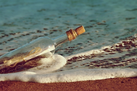 message in a bottle: Message in bottle Stock Photo