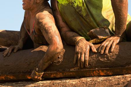 Mud race runners Stockfoto