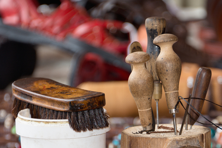 repairer: Collection of shoemaking tools