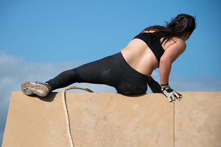 corriendo por encima de obstáculos