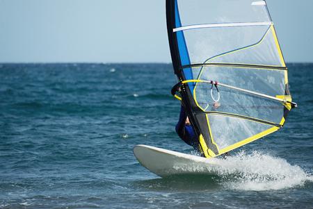 windsurfing: Windsurfing en el movimiento