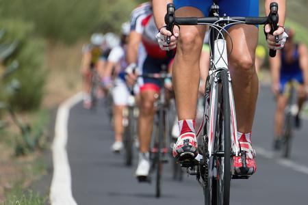 Radrennen Rennen Standard-Bild