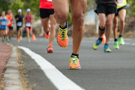 pista de atletismo: Corredores de maratón Foto de archivo