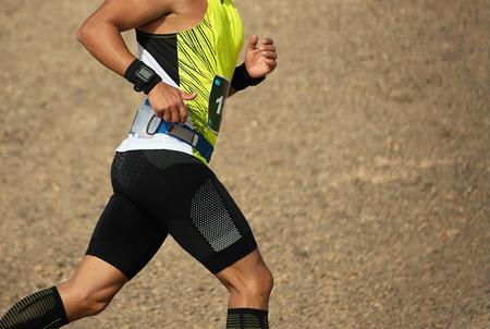 Running man trail runner cross country race
