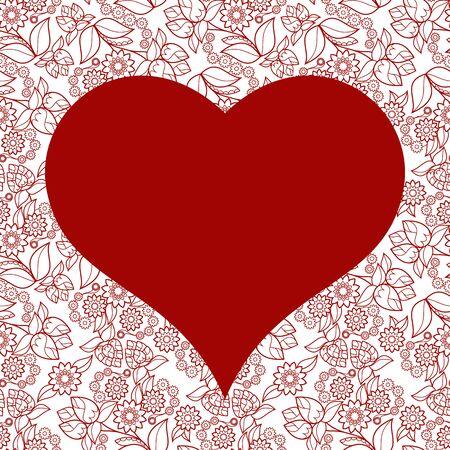 heart seamless pattern: Heart seamless pattern for Valentines day card background