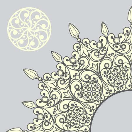 weave: Weave floral vector pattern Illustration