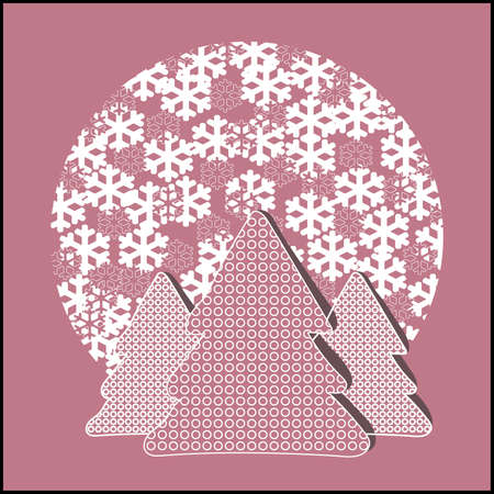 firtrees: Fir-trees with snowflakes cutout