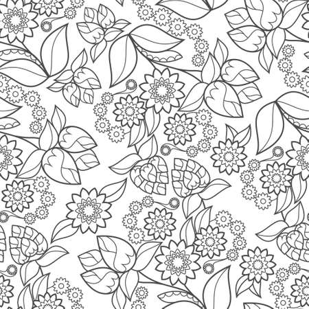 seamless: Background floral seamless texture