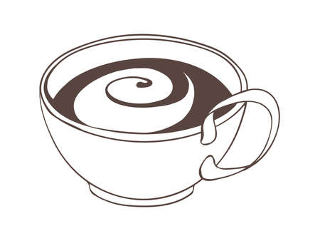 demitasse: Cappuccino in coffee cup
