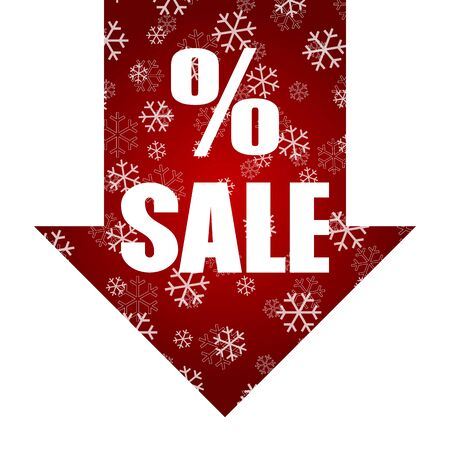 Christmas discount sale poster design template