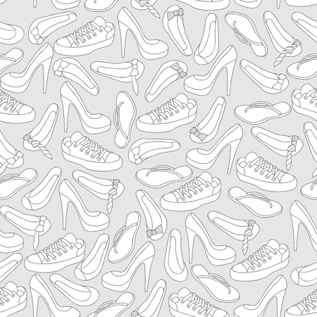snickers: Footwear shoes seamless background texture Illustration