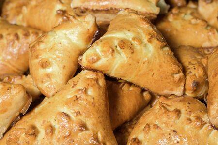 croissants and pastries on a festive table Foto de archivo