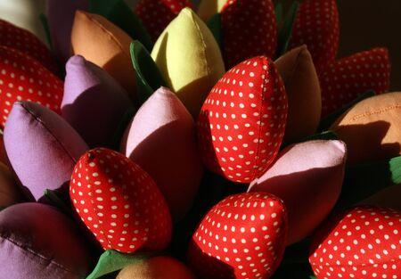 craftwork: Handmade flowers. Craftwork Stock Photo