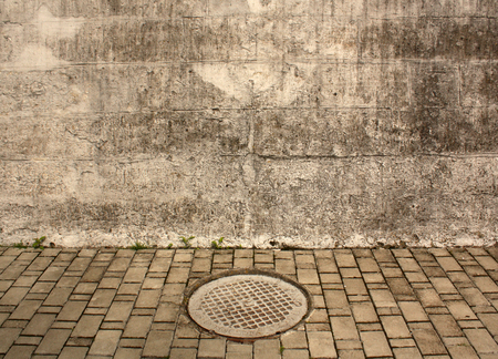 manhole cover: Manhole cover. Architectural background