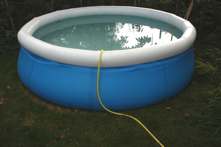 objects: inflatable pool. Garden objects