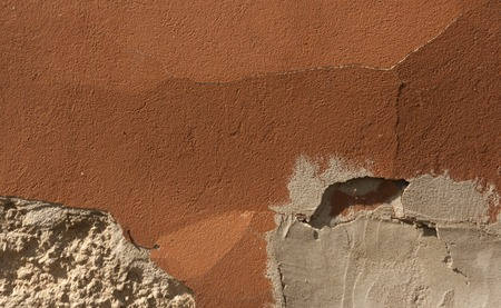 couleur orange: Orange color wall texture. Architectural texture.