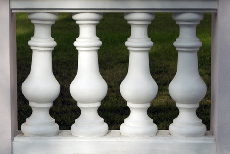 pilaster: Column barelief fence. Architectural background. Stock Photo