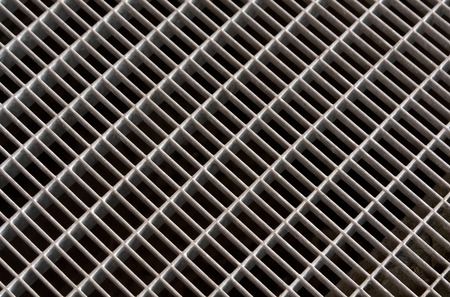 metal grid: Metal grid floor texture. Stock Photo