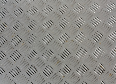 Gray painted metal floor texture with some rust. Industrial and Architectural background. Stock Photo