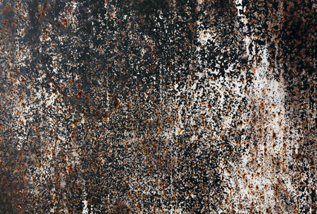 pitting: Old rusty metal wall texture. Architectural background. Stock Photo