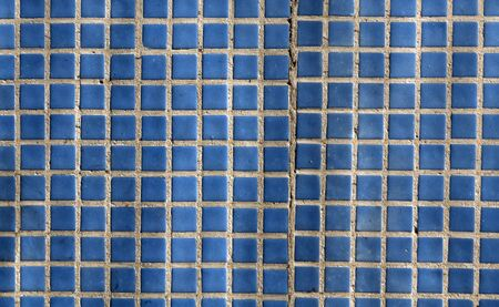 porous brick: Blue mosaic wall texture. Architectural background Stock Photo