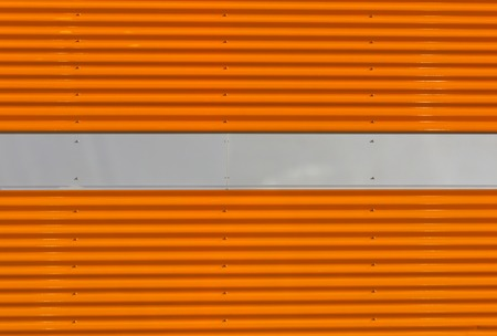 pitting: Orange and gray metal wall texture. Architectural background. Stock Photo