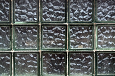 glass block: Glass block wall texture. Architectural background.
