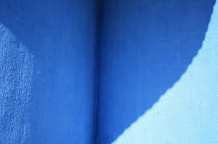redecorate: Blue plaster wall texture. Background and texture. Stock Photo