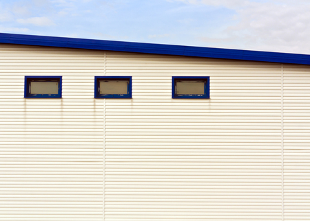 warehouse building: Warehouse building. Commercial buildings and background. Stock Photo
