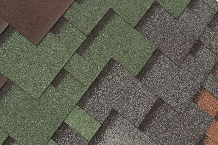 ridge of wave: Color roof texture. Architectural background.
