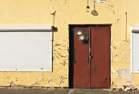 locked door: Grunge locked door. Architectural background