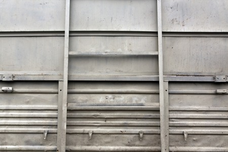pitting: Gray metal truck board. Transport and logistics. Stock Photo