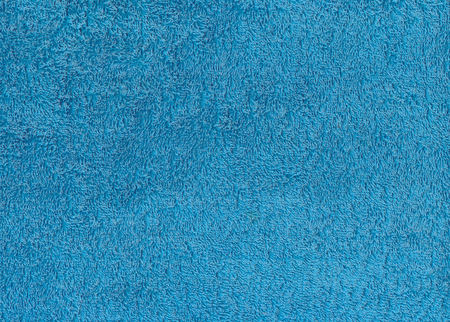 in towel: Blue textile towel texture. Background and texture.
