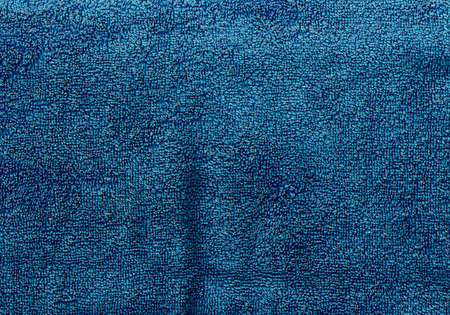 navy blue background: Navy blue towel texture. Background and texture. Stock Photo