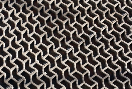 hard alloy: Gray plastic floor cover. Background and texture.