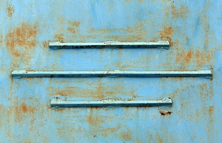 pitting: Rusty blue metal texture with lines. BACKGROUND AND TEXTURE FOR DESIGN.