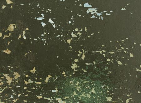 pitting: Green weathered metal texture. Background and texture for design Stock Photo