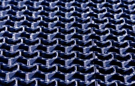 hard alloy: Blue plastic floor cover texture. Background and texture Stock Photo