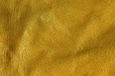 Yellow leather texture. Background and texture for design. Stock Photo