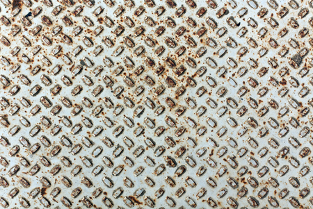 rough diamond: Rusty metal floor texture. Background and texture for design Stock Photo