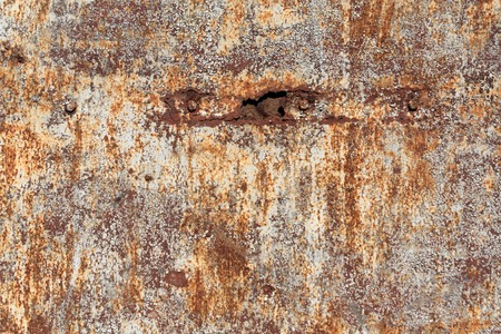 pitting: Weathered rusty metal surface. Background and texture for design.