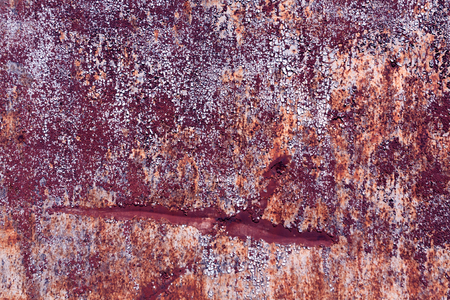 pitting: Rusty metal surface with old paint and scratches. Background and texture for design. Stock Photo